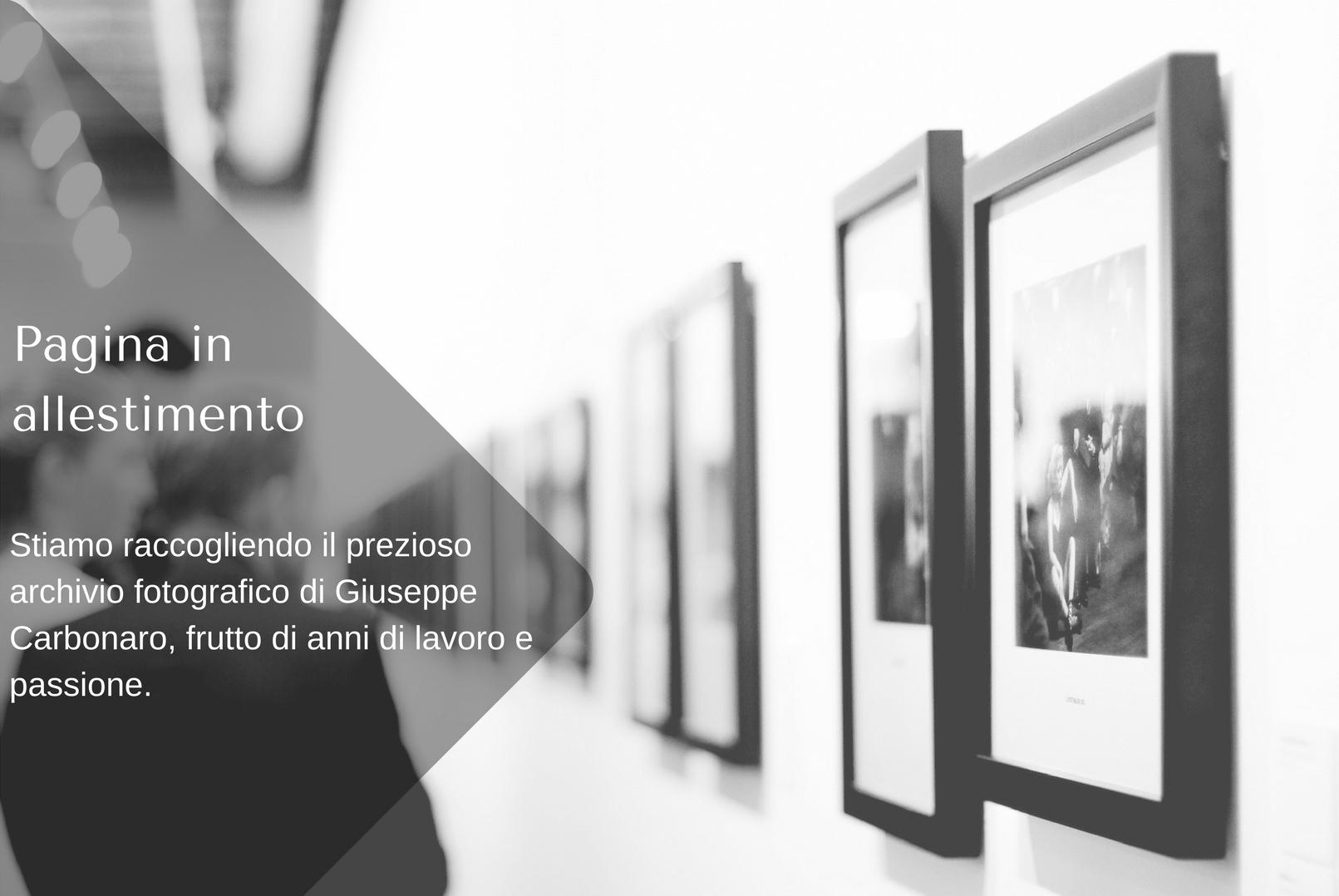 Pagina in allestimento Archivio Fotografico Casa del fotografo Modica